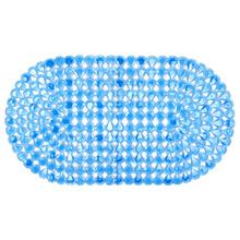 Tapete de Banheiro 1 peça Oval Plástico Azul Primafer