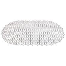 Tapete de Banheiro 1 Peça Oval Plástico Transparente Importado