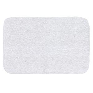 Tapete de Banheiro 1 Retangular Algodão Branco Braz Textil