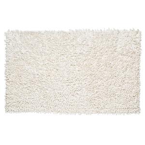 Tapete de Banheiro 1 peça Retangular Algodão Branco Importado