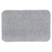 Tapete de Banheiro 1 Retangular Algodão Cinza Braz Textil