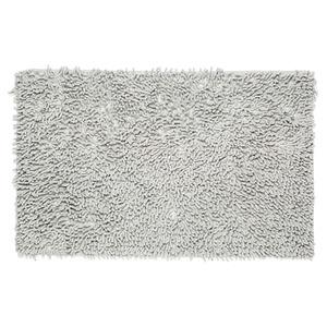Tapete de Banheiro 1 peça Retangular Algodão Cinza Importado