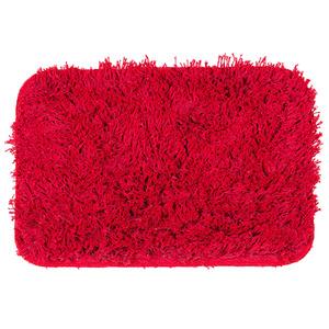 Tapete de Banheiro 1 Retangular Algodão Vermelho Braz Textil