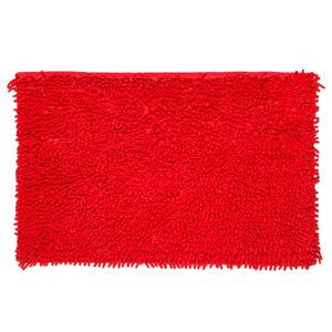 Tapete de Banheiro 1 peça Retangular Algodão Vermelho Importado