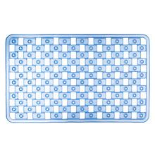 Tapete de Banheiro 1 peça Retangular Plástico Azul Stamplas