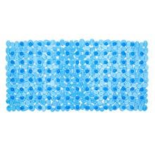 Tapete de Banheiro 1 peça Retangular Plástico Azul Primafer