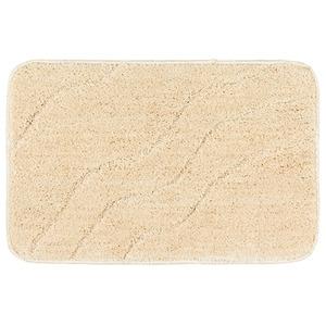 Tapete de Banheiro 1 peça Retangular Plástico Bege Primafer