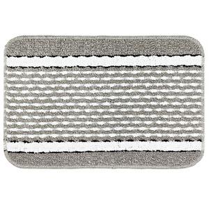 Tapete de Banheiro 1 Retangular Plástico Cinza Braz Textil
