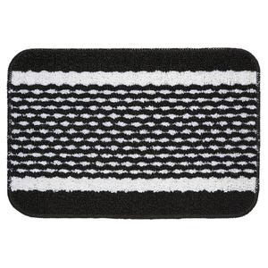 Tapete de Banheiro 1 Retangular Plástico Preto Braz Textil