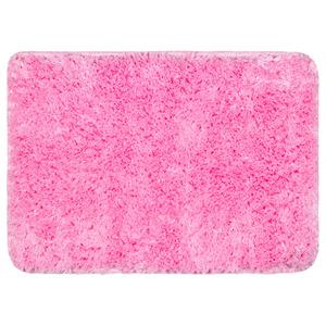 Tapete de Banheiro 1 Retangular Plástico Rosa Braz Textil