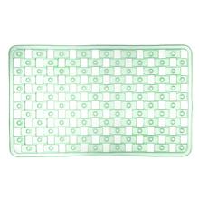 Tapete de Banheiro 1 peça Retangular Plástico Verde Stamplas