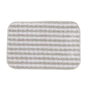 Tapete de Banheiro Antiderrapante Tecido Listra Cinza 40x60cm Lucatex