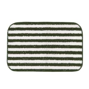 Tapete de Banheiro Antiderrapante Tecido Listra Verde Musgo 40x60cm Lucatex
