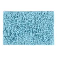 Tapete de Banheiro Chenille Tecido Azul Claro 40x60cm Sensea
