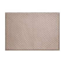 Tapete de Banheiro Antiderrapante Dots Tecido Bege 50x70cm Jolitex