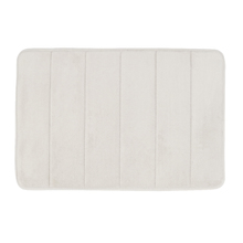 Tapete de Banheiro Comfort Zone Antiderrapante Cocoon Plástico Bege 40x60cm Sensea