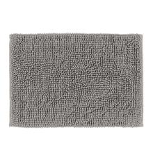 Tapete de Banheiro Chenille Tecido Cinza 40x60cm Sensea