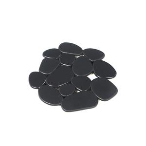 Tapete de Banheiro Redondo 6 peças Plástico Cinza