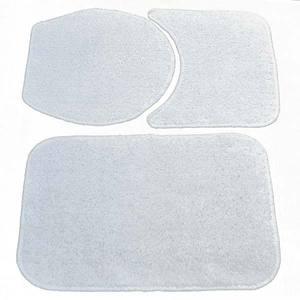 Tapete de Banheiro Retangular 1 peça Branco Safira 60x40cm Braz Textil