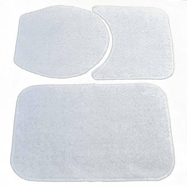 022d28c55b Jogo Tapete de Banheiro Antiderrapante Safira Branco Tecido 3 Peças Braz  Textil