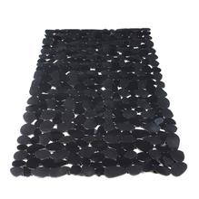 Tapete de Banheiro Retangular 1 peça Plástico Cinza