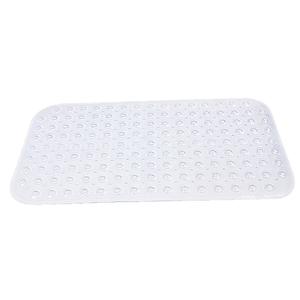 Tapete de Banheiro Retangular 1 peça Plástico Transparente