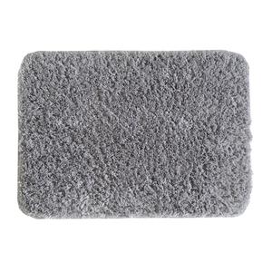 Tapete de Banheiro Tecido Cinza 50x70cm Lucatex