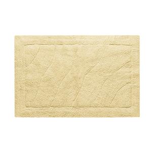 Tapete de Banheiro Tecido Retangular Agra Amarelo 50x70cm Jolitex