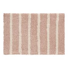 Tapete de Banheiro Tecido Retangular Agra Desing Rosa 40x60cm Jolitex