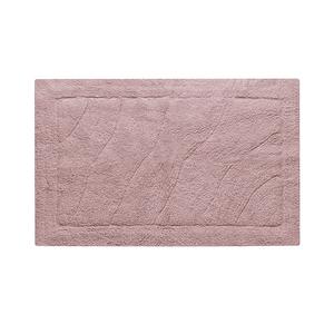 Tapete de Banheiro Tecido Retangular Agra Rosa 50x70cm Jolitex