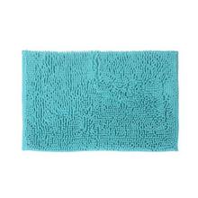 Tapete de Banheiro Tecido Retangular Azul Claro 1 peça
