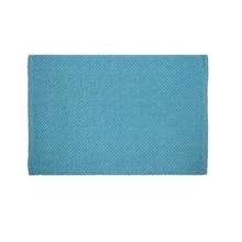 Tapete de Banheiro Tecido Retangular Azul Claro