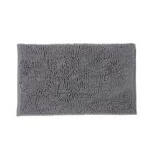 Tapete de Banheiro Tecido Retangular Cinza 1 peça