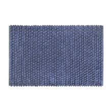 Tapete de Banheiro Tecido Retangular Confort Azul 40x60cm Sensea