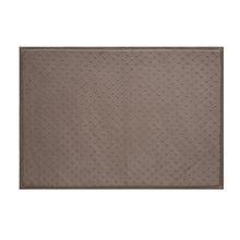 Tapete de Banheiro Tecido Retangular Dots Bege 50x70cm Jolitex