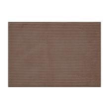 Tapete de Banheiro Tecido Retangular Linea Bege 50x70cm Jolitex