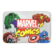 Tapete de Banheiro Tecido Retangular Marvel Multicolorido 40x60cm Mabruk
