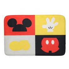 Tapete de Banheiro Tecido Retangular Mickey Parts Multicolorido 40x60cm Mabruk