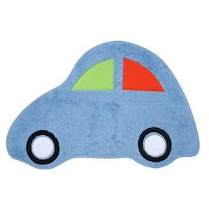 Tapete Infantil Algodão Carro Azul 0,52x0,78m Zipping