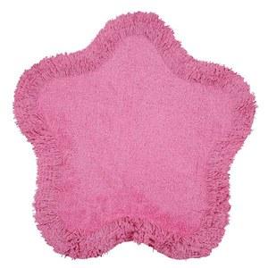 Tapete Infantil Algodão Flor Rosa 0,60x0,60m Zipping