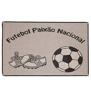 Tapete Infantil Futebol Preto I30 1x1,50 m Indústria Tapete Infantil
