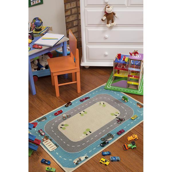 Tapete infantil pistas azul 1 00x1 50m leroy merlin - Leroy merlin seguridad infantil ...