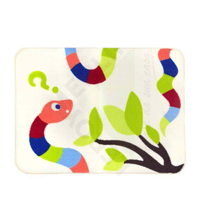 Tapete Infantil Poliamida Frog Colorido Kapazi 1,00x0,75m