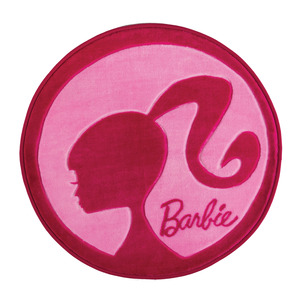 Tapete Infantil Poliéster Barbie Rosa Jolitex 80cm