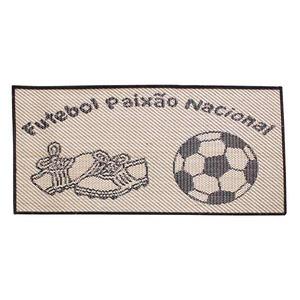 Tapete Infantil Polipropileno Futebol Preto 0,50x1 m Lancer