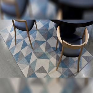 Tapete Kalla Geométrico Azul 1,00x1,50m