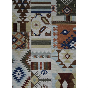 Tapete Lã Killim Patchwork Colorido Abdalla 3,50x2,50m