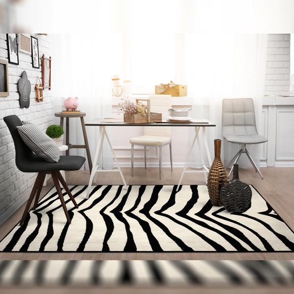 Tapete marrakesh zebra preto e bege 2 00x3 00m inspire for Zebra tapete