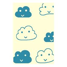 Tapete Nuvem Azul Turquesa 1,00x1,50m