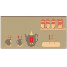 Tapete para Cozinha Sisllê Café da Manhã Bege 0,40x1,50m